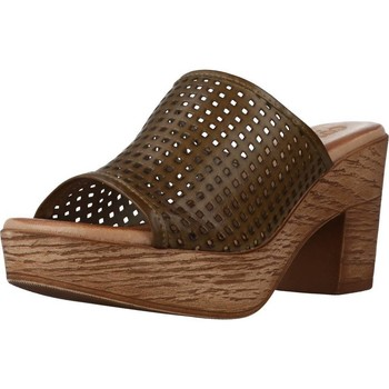Schuhe Damen Pantoffel Cokketta 1212Y Grün