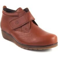 Schuhe Damen Low Boots Bellatrix Lady  7546 Leder Braun