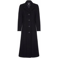 Kleidung Damen Mäntel Anastasia Winter Einreiher Kaschmir Mantel Black
