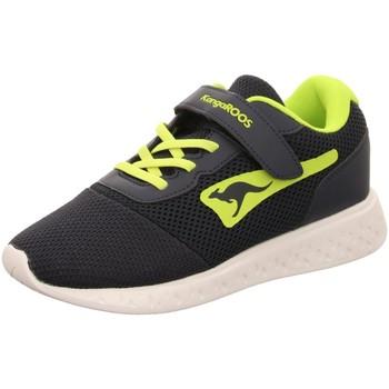 Schuhe Jungen Sneaker Low Kangaroos Schnuerschuhe K-Mile EV,dk navy/lime 18588 4054 blau