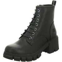 Schuhe Damen Low Boots Dockers by Gerli Stiefeletten Schnürstiefelette Warmfutter 47AA301 610100 schwarz