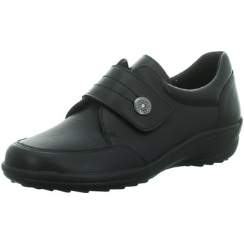 Schuhe Damen Derby-Schuhe Longo Slipper -Klettslipper 1035937 schwarz