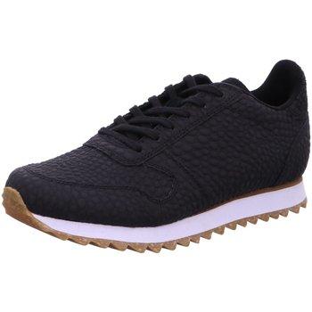 Schuhe Damen Sneaker Low Woden Schnuerschuhe Ydun Croco II WL049 schwarz
