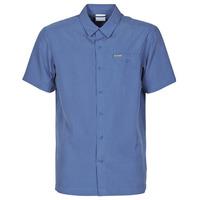Kleidung Herren Kurzärmelige Hemden Columbia LAKESIDE TRAIL Blau