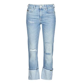 Kleidung Damen Straight Leg Jeans G-Star Raw NOXER HIGH STRAIGHT WMN Blau