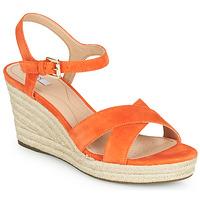 Schuhe Damen Sandalen / Sandaletten Geox D SOLEIL Orange