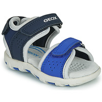 Schuhe Jungen Sandalen / Sandaletten Geox B SANDAL PIANETA Blau