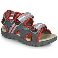 Schuhe Jungen Sandalen / Sandaletten Geox JR SANDALE STRADA Grau / Rot