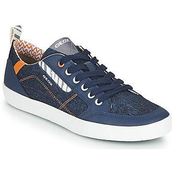 Schuhe Jungen Sneaker Low Geox JR KILWI GARÇON Blau