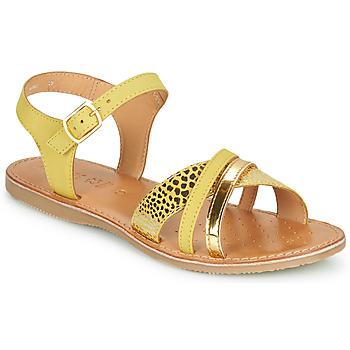 Schuhe Mädchen Sandalen / Sandaletten Geox J SANDAL EOLIE GIRL Gelb / Gold