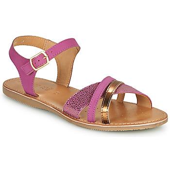 Schuhe Mädchen Sandalen / Sandaletten Geox J SANDAL EOLIE GIRL Rose / Gold