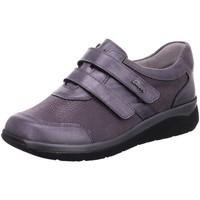 Schuhe Damen Derby-Schuhe Stuppy Slipper Weite K Grau Glattleder 6054-605608 lila