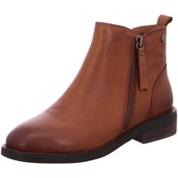 Schuhe Damen Boots Carmela Stiefeletten Lederstiefelette in Braun 67618CAMEL braun