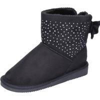 Schuhe Mädchen Low Boots Asso stiefeletten synthetisches wildleder schwarz