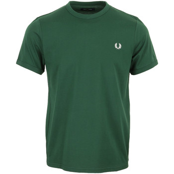 Kleidung Herren T-Shirts Fred Perry Ringer T-Shirt Grün