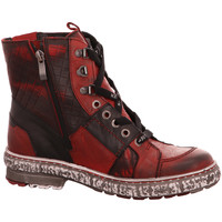 Schuhe Damen Boots Krisbut Stiefeletten 3177-1 rot