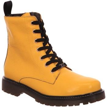 Schuhe Damen Boots Black Stiefeletten 222,257 262453000/608 gelb