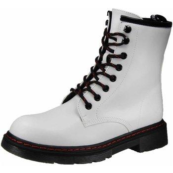 Schuhe Damen Boots Dockers by Gerli Stiefeletten Schnürstiefelette Kaltfutter 45TS201-600500 weiß