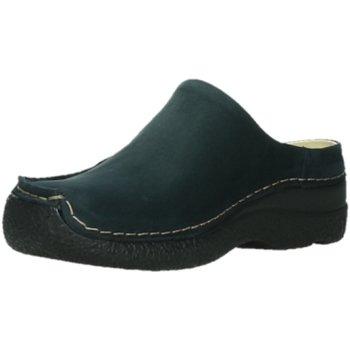 Schuhe Damen Pantoletten / Clogs Wolky Pantoletten Seamy Slide Oiled nubuck 0625016/800 800 blau