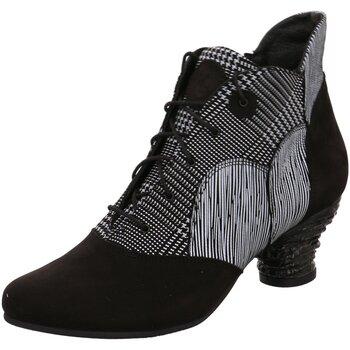 Schuhe Damen Boots Simen Stiefeletten 3060A SCHWARZ/WEISS schwarz