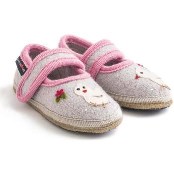 Schuhe Mädchen Hausschuhe Haflinger 67306102 Grigio