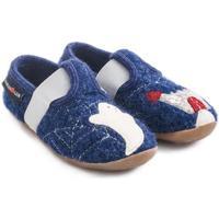 Schuhe Kinder Hausschuhe Haflinger 48311272 Blu