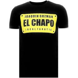 Kleidung Herren T-Shirts Local Fanatic S Joaquin El Chapo Guzman Schwarz