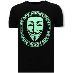 Kleidung Herren T-Shirts Local Fanatic S We Are Anonymous Schwarz