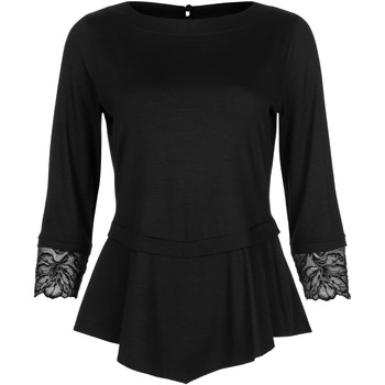 Kleidung Damen Tops / Blusen Lisca Dreiviertelärmel-Top Impressif schwarz Perlschwarz