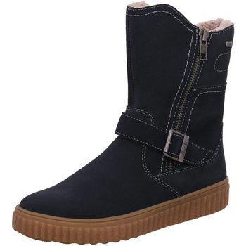 Schuhe Mädchen Schneestiefel Lurchi Stiefel Mä gefü Texstfl atlantic Suede 33-13240-22 blau