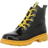 Schuhe Damen Boots Artiker Stiefeletten 47C170 schwarz