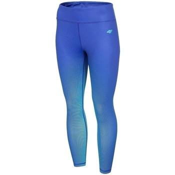 Kleidung Damen Leggings 4F SPDF008 Blau
