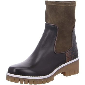 Schuhe Damen Boots Donna Carolina Stiefeletten Chelsea kombi 42.699.051-001 braun
