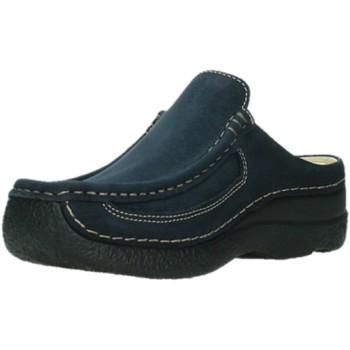 Schuhe Damen Pantoletten / Clogs Wolky Pantoletten Roll Slide 06202 blau
