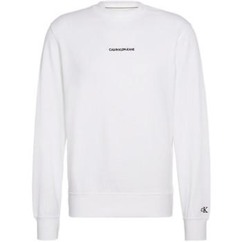 Kleidung Herren Sweatshirts Calvin Klein Jeans Inscrit c'est logo crewneck Weiss