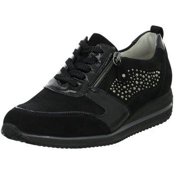 Schuhe Damen Sneaker Low Waldläufer Schnuerschuhe Himona Schnürschuh 980006-402-001 schwarz