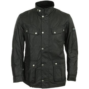 Kleidung Herren Parkas Barbour International Duke Wax Jacket Schwarz