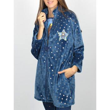 Kleidung Damen Pyjamas/ Nachthemden Admas Just Because Santoro blaue -Lounge-Jacke Blau