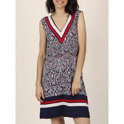 Kleidung Damen Kleider Admas Marineblaues ärmelloses Sommerkleid im -Stil Blau Marine