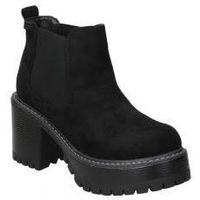 Schuhe Damen Low Boots Emmshu BOTINES  HEAT MODA JOVEN BLACK Noir