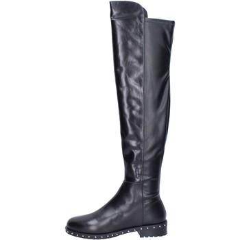 Schuhe Damen Stiefel Elvio Zanon stiefel leder schwarz