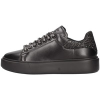 Schuhe Damen Sneaker Low Frau 41l8 Turnschuhe  Schwarz Schwarz