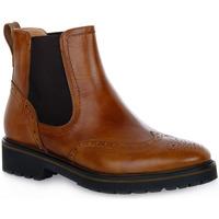 Schuhe Damen Low Boots NeroGiardini NERO GIARDINI  400 MANOLETTE CUOIO Marrone