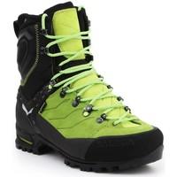 Schuhe Herren Wanderschuhe Salewa Trekkingschuhe  MS Vultur EVO GTX 61334-0916 schwarz, grün