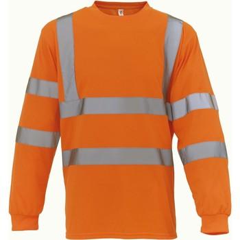 Kleidung Langarmshirts Yoko T-Shirt manches longues  Haute Visibilité orange