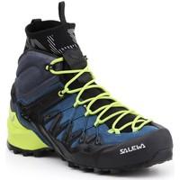 Schuhe Herren Wanderschuhe Salewa Trekkingschuhe  MS Wildfire Edge MID GTX 61350-8971 grün, dunkelblau