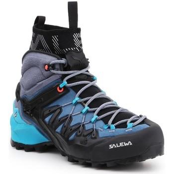 Schuhe Damen Wanderschuhe Salewa Trekkingschuhe  WS Wildfire Edge MID GTX 61351-8975 dunkelblau, grau, schwarz