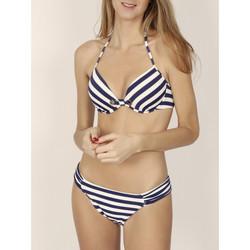 Kleidung Damen Bikini Admas 2-teiliges Push-Up-Bikini-Set Sailor Blau Marine