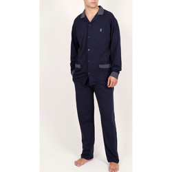 Kleidung Herren Pyjamas/ Nachthemden Admas For Men Homewear-Pyjamahose Hemd Mazarine Admas Blau Marine