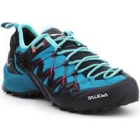 Schuhe Damen Wanderschuhe Salewa Trekkingschuhe  WS Wildfire Edge 61347-8736 schwarz, blau